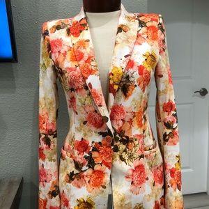 Zara Flower Luxury Blazer Women's Size Small